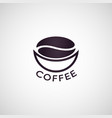 coffee logo icon vector image vector image