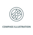 compass line icon compass vector image