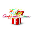 congratulations banner with colorful confetti and vector image vector image
