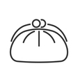 Cosmetics bag line icon vector image