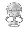 crying plastic cup isolated on with mascot vector image vector image