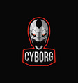 cyborg sport mascot logo vector image