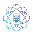 data science atom around of server icon silhouette vector image vector image