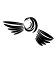 eagle head tattoo design logo prey bird vector image