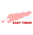 east timor map - mosaic of heart hearts vector image vector image