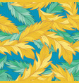 elegant pattern with detailed palm feather vector image vector image
