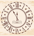 elegant roman clock vector image