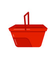 empty bright red bucket with handle plastic vector image vector image