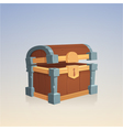 empty wooden chest vector image