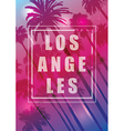 Exotic Travel Background with Palm Trees for Los vector image
