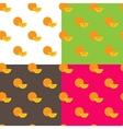 flat orange fruits seamless pattern vector image vector image