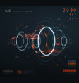 futuristic virtual hud interface technology vector image vector image