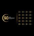 golden anniversary celebration emblem design vector image vector image