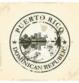 Grunge rubber stamp with Puerto Rico Dominican vector image