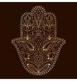 Hand drawn Hamsa symbol Hand of Fatima Ethnic vector image