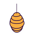 hanging honeycomb hive icon design vector image vector image