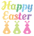 Happy Easter cross stitch pattern vector image