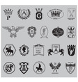 heraldry shield set vector image vector image