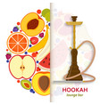 hookah background with pipe for smoking tobacco vector image