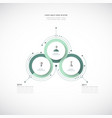 infographics 3d paper cycle diagram template vector image vector image