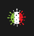 italy coronavirus sign vector image