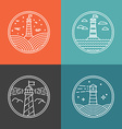 lighthouse logos vector image