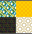 linear hexagon seamless pattern design vector image vector image