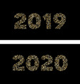 luxury golden new year 2019 2020 gold glittering vector image