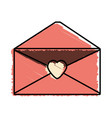 message mail romantic envelope vector image vector image