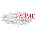 mime word cloud concept vector image