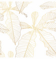 nature leaves golden seamless pattern vector image