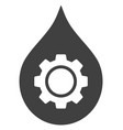 oil industry gear icon vector image