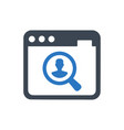 online professional search icon vector image vector image