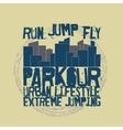 Parkour concept t-shirt vector image vector image