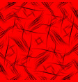 pattern of smooth black lines on a red background vector image