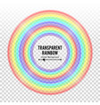 rainbow circle element color spectrum vector image vector image