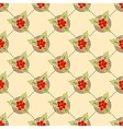 Red berry pattern vector image vector image