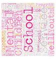 School Based Mental Health Services Reduce School vector image vector image