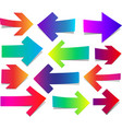 set of straight colorful arrows vector image vector image