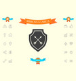 shield with arrows protection icon vector image vector image