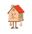 sick cartoon character house vector image vector image