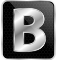 Silver typographic b vector image