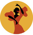 spanish flamenco dancer vector image vector image