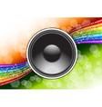 speaker background vector image vector image