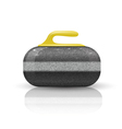 Stone for curling sport game vector image vector image