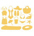summer and beach accessories vector image