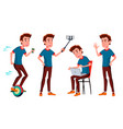 teen boy poses set funny friendship for vector image vector image