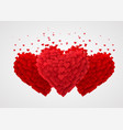 valentines red hearts love concept vector image vector image