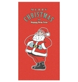 Vintage retro Christmas card Old-fashioned Santa vector image vector image