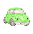 watercolor cute cartoon car clipart vector image